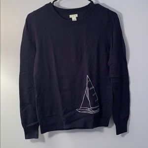 J.Crew navy boat sweater